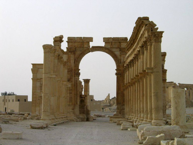 Columns are seen in the historical city of Palmyra, Syria, June 12, 2009. Satellite images have confirmed the destruction of the Temple of Bel, which was one of the best preserved Roman-era sites in the Syrian city of Palmyra, a United Nations agency said, after activists said the hardline Islamic State group had targeted it. The Syrian Observatory for Human Rights monitoring group and other activists said on August 30, 2015 that Islamic State had destroyed part of the more than 2,000-year-old temple, one of Palmyra's most important monuments. Picture taken June 12, 2009.  REUTERS/Gustau Nacarino